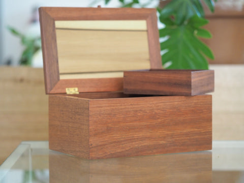 Jarrah and Tasmanian Sassafras Large Timber Jewellery Box