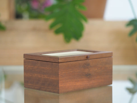 Jarrah and Tasmanian Sassafras Small Timber Jewellery Box
