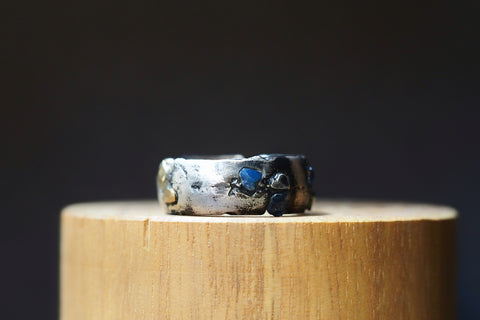 Yellow Gold Sandcast Sapphire Ring #1