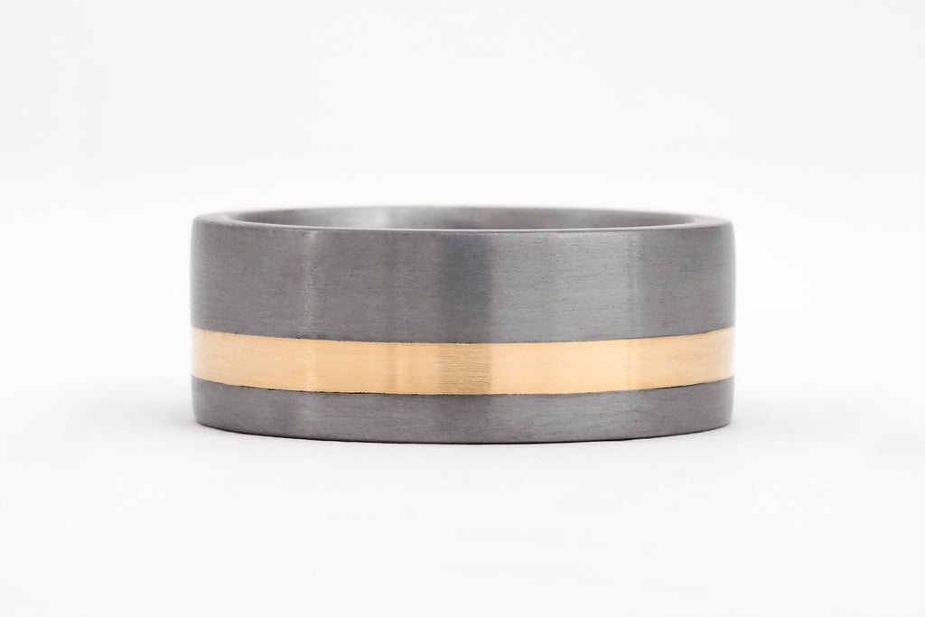 Tantalum and Yellow Gold Ring