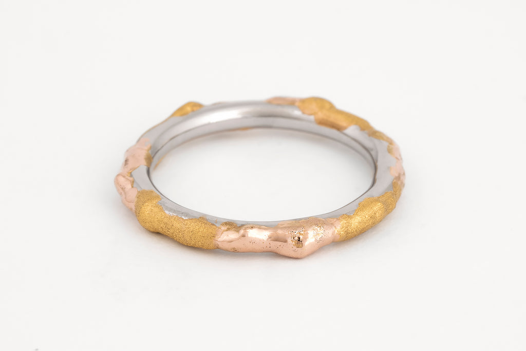 Fused Platinum and Gold Ring