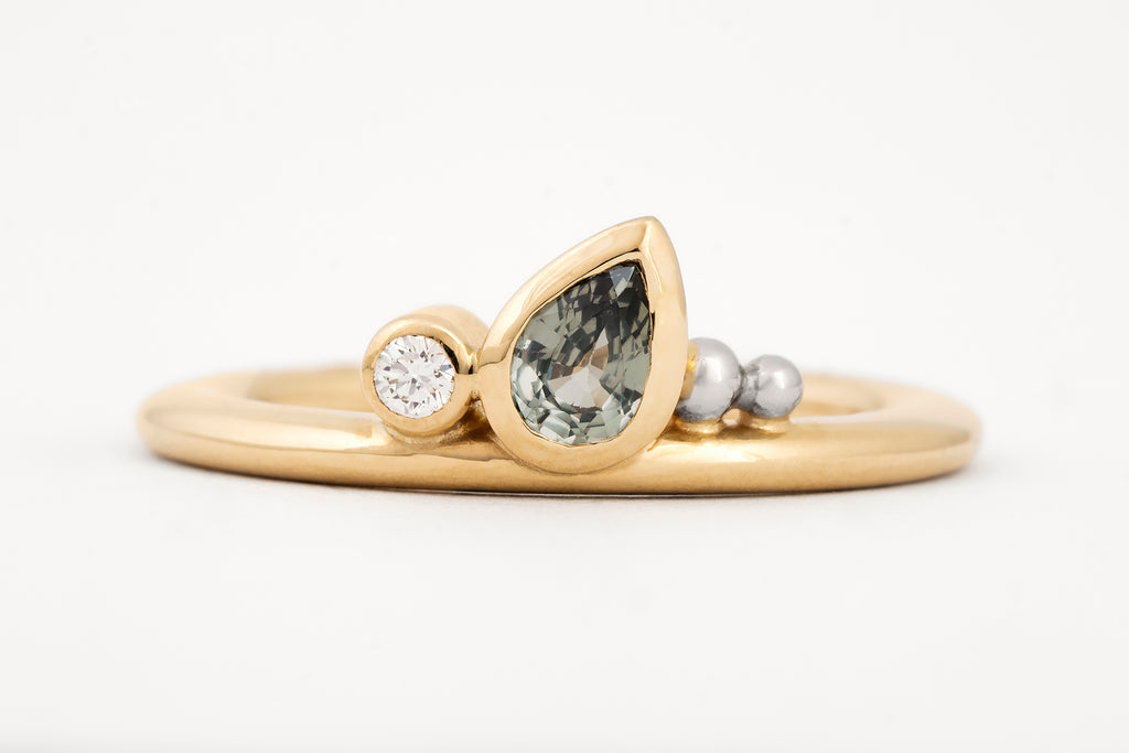 Enchanted Garden Sapphire and Diamond Ring