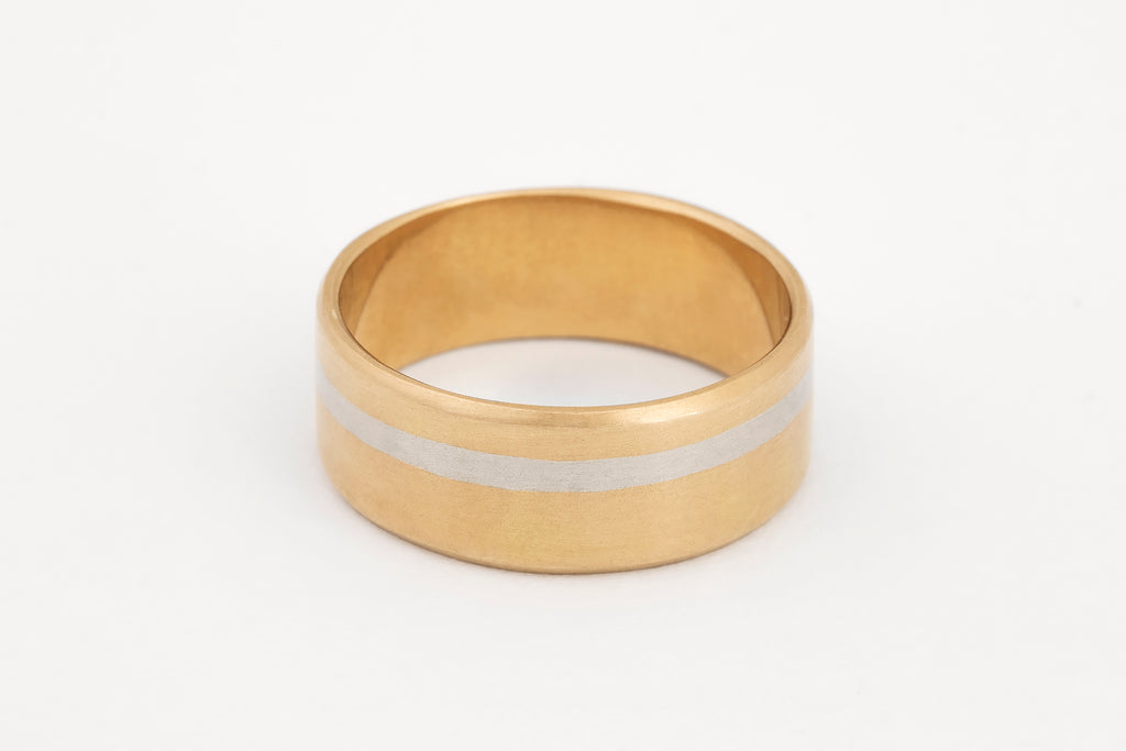 Yellow Gold Inlaid Ring