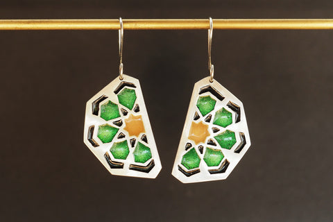 Enamel Islamic Motif Earrings