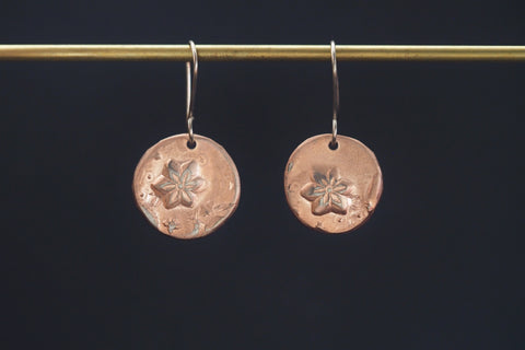 India Flower Earrings