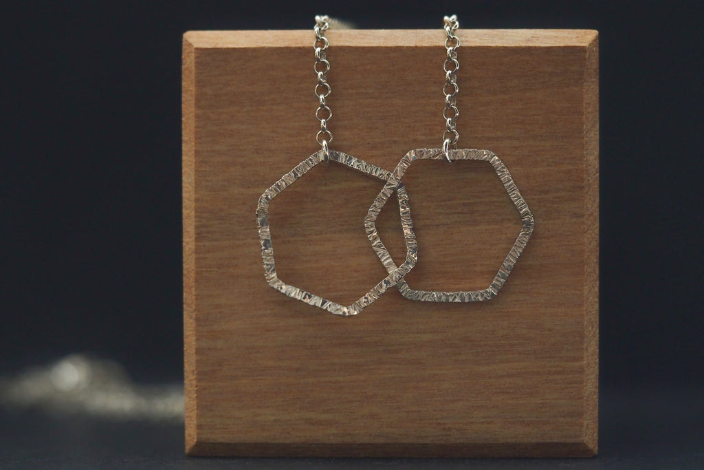 Silver Tactility Encircled Necklace