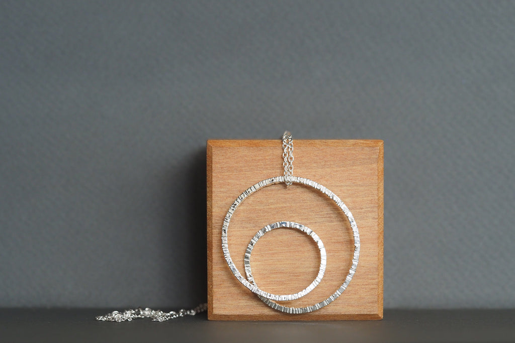 Silver Tactility Spiral Necklace