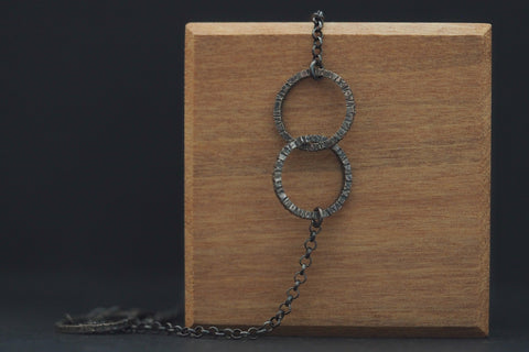Oxidised Tactility Encircled Anklet