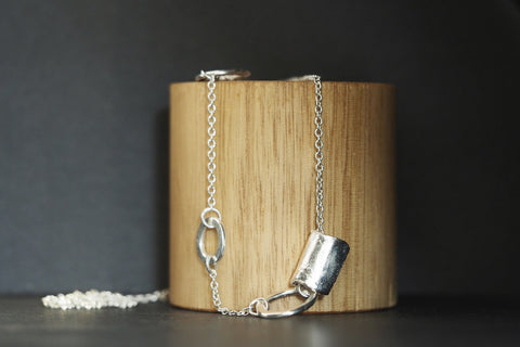 Long Silver Relik Necklace #3