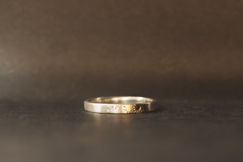 Sun and Mountain Ring Silver