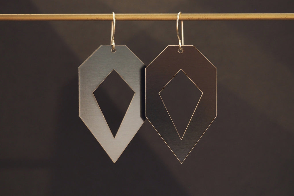 Segment Earrings Heptagon