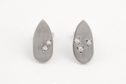 Frozen Droplet Studs White Gold