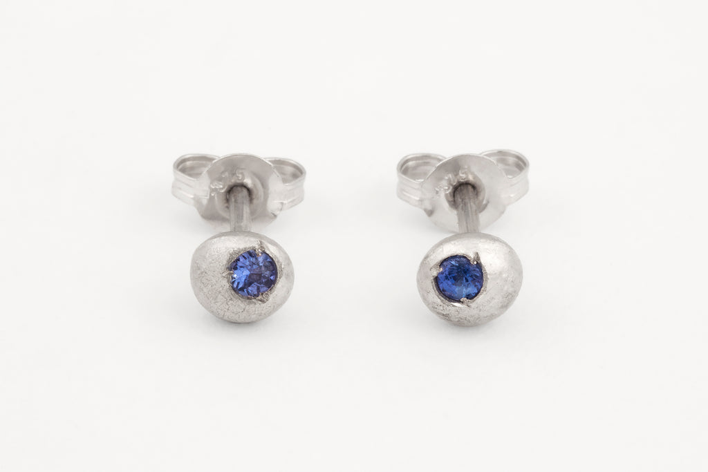 Sapphire Droplet Studs