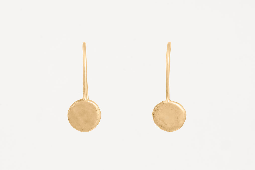 Gold Dot Drop Hook Earrings