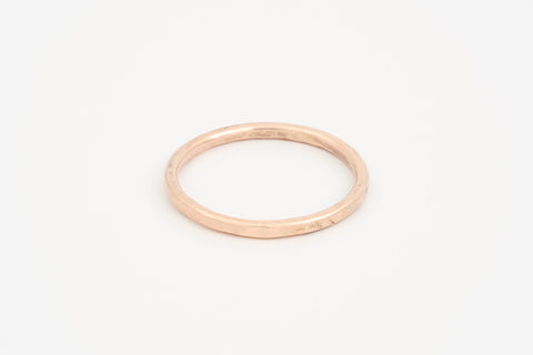 Rose Gold Hammered Stacker Ring