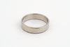 Hammered Wedding Ring, 9c grey white gold