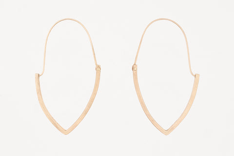 Intersection Marquise Hoops Gold