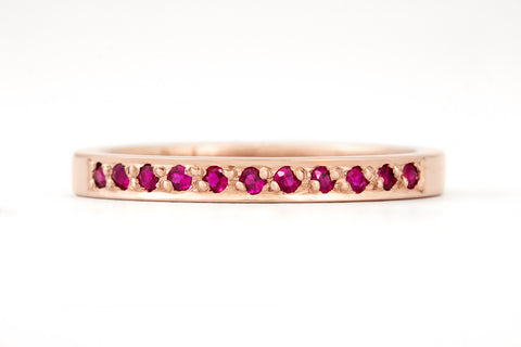 Ruby Rose Grain Ring