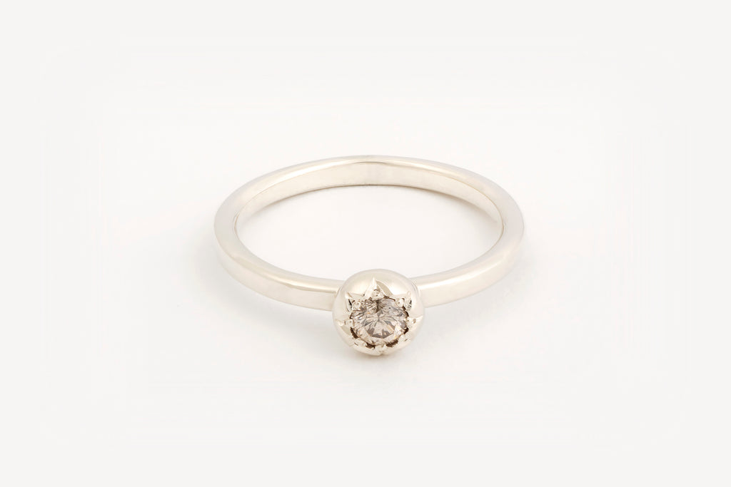 Diamond Star Engagement Ring