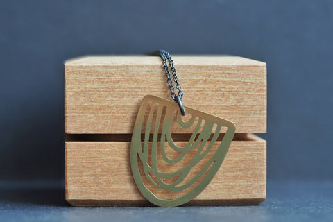 Brass Lines Necklace