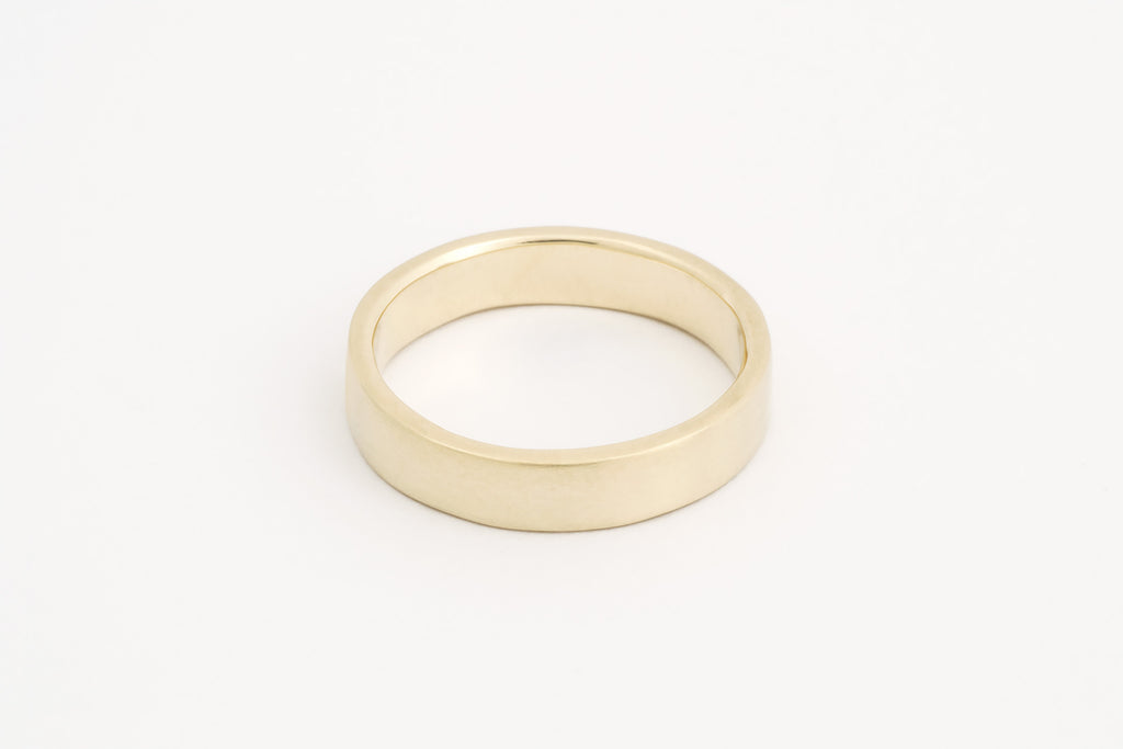 Wedding Ring, 14c Yellow Gold Flat Profile