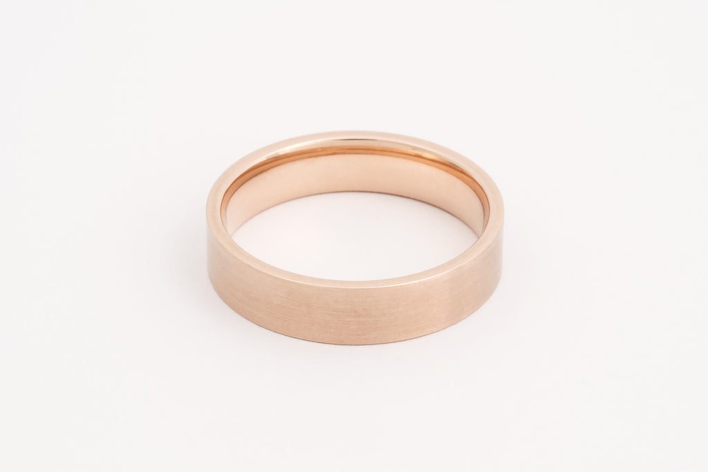 Wedding Ring, 9c Rose Gold Flat Profile