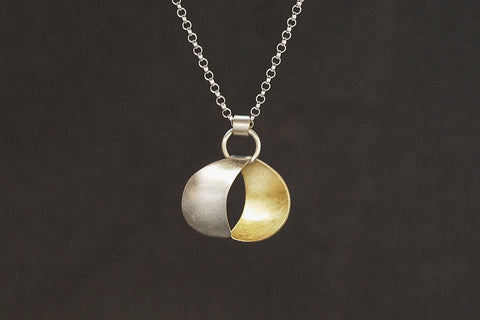Reversible Crescent Moon Necklace