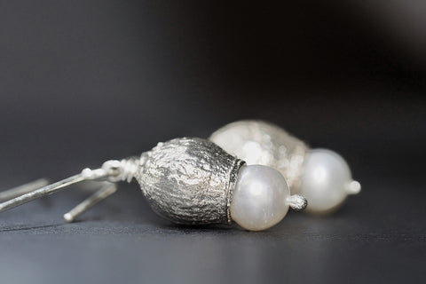 Small Pearl Gumnut Earrings