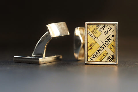 Map Cufflinks, Flinders st