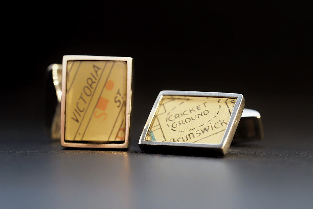 Map Cufflinks, Victoria St Brunswick