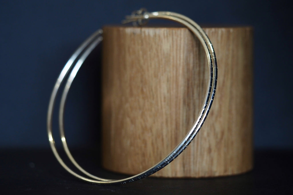 Large Silver Tactility Hoops