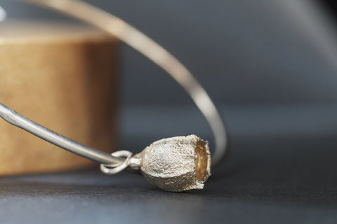 Silver Bangle with Medium Gumnut Charm