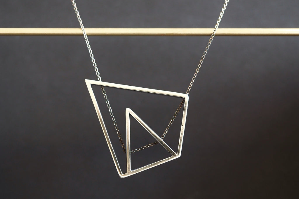 Angled Outline Necklace