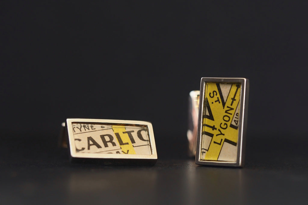 Map Cufflinks, Lygon st