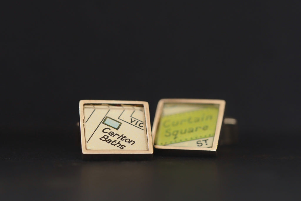 Map Cufflinks, Carlton Baths