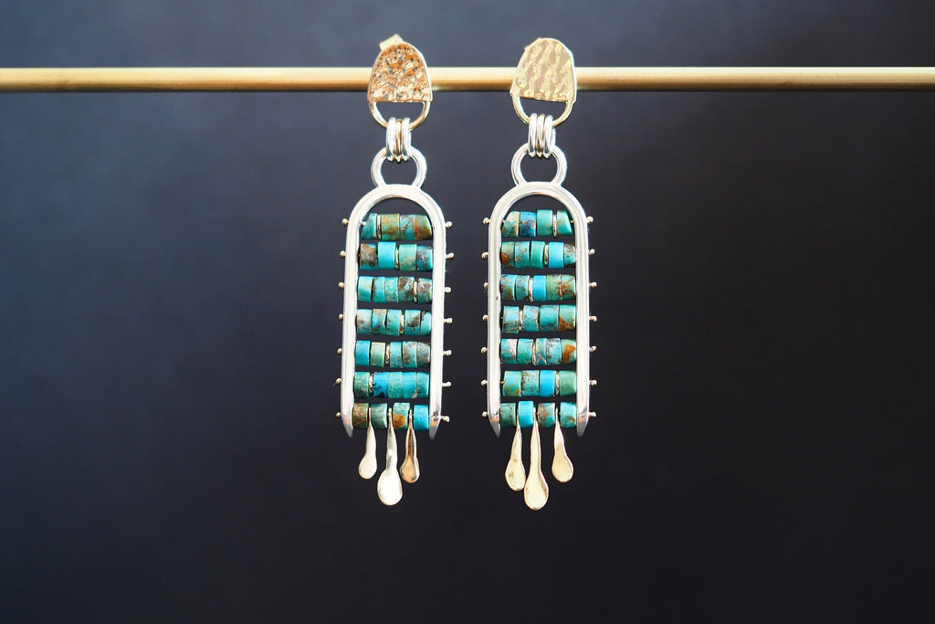 Turquoise Ladder Earrings