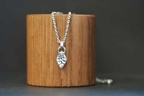 Diamond Shape Silver Artefact Necklace