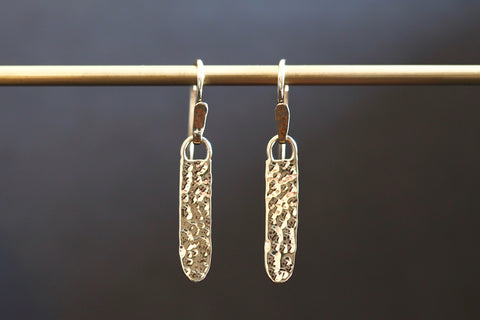 Long Gold Artefact Earrings