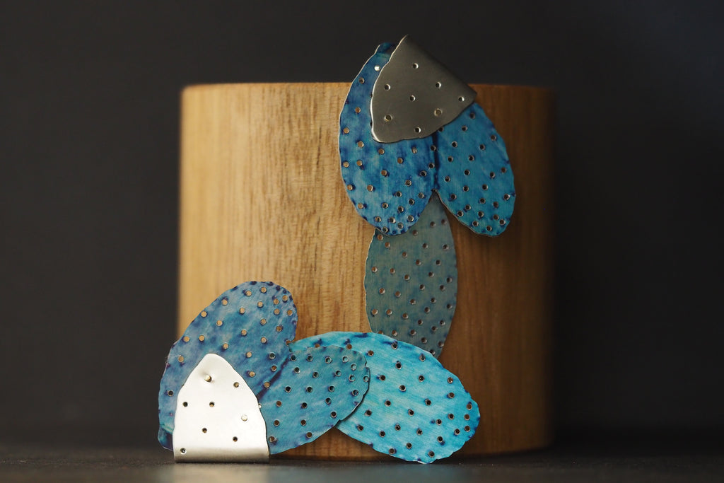 Island Blue Prickly Pair Earrings