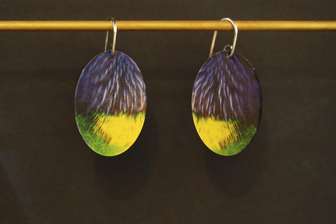 Parrot Oval Earrings