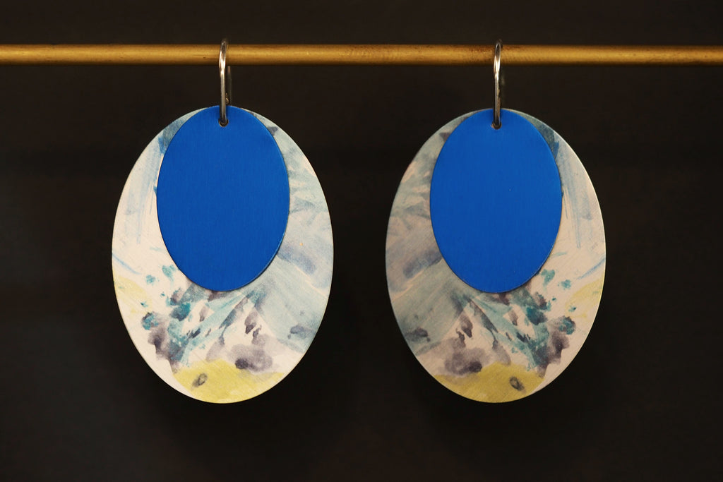 Blue Art Attack Earrings