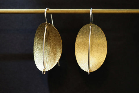 Medium Bonnie Brass Earrings