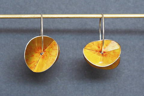 Marigold Whirlygig Earrings