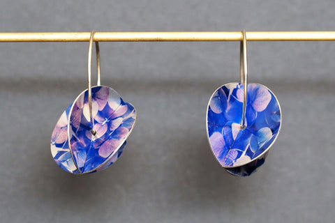 Hydrangea Whirlygig Earrings