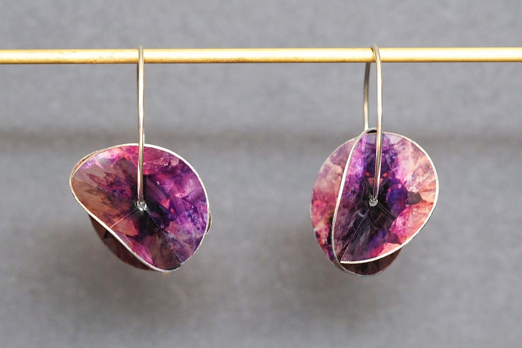 Amethyst Crystal Whirlygig Earrings