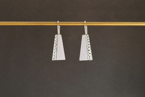Enamel Bell Drop Earrings