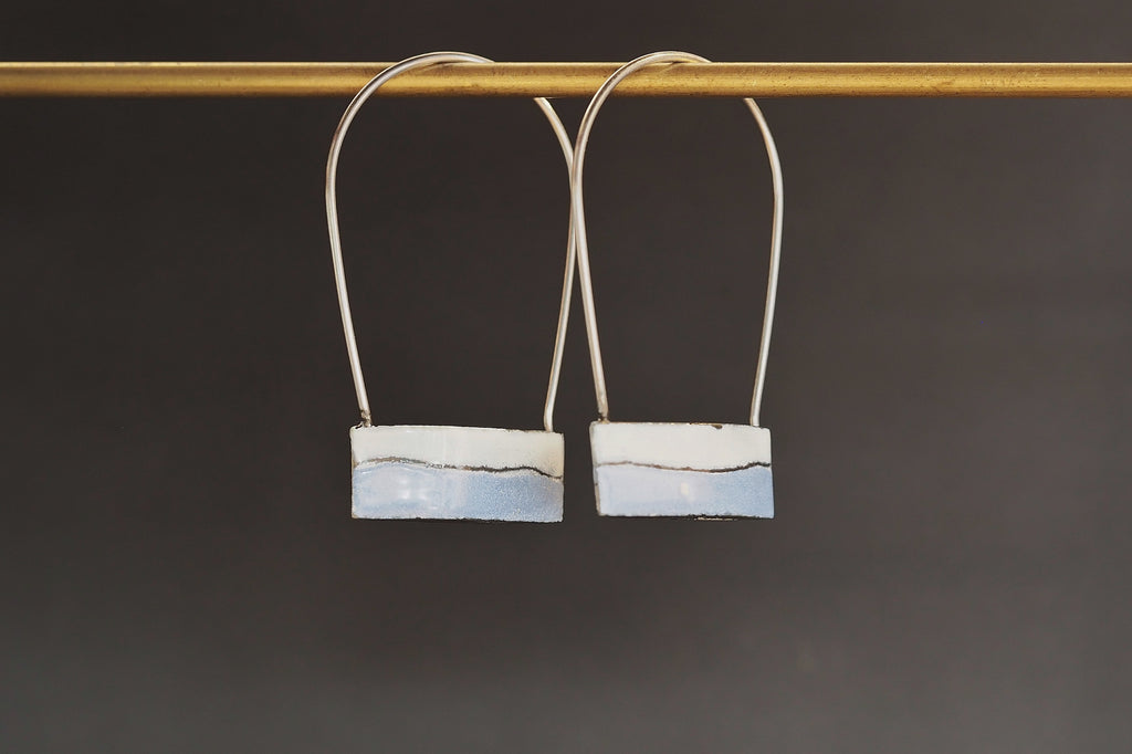 Blue Enamel HAB Earrings