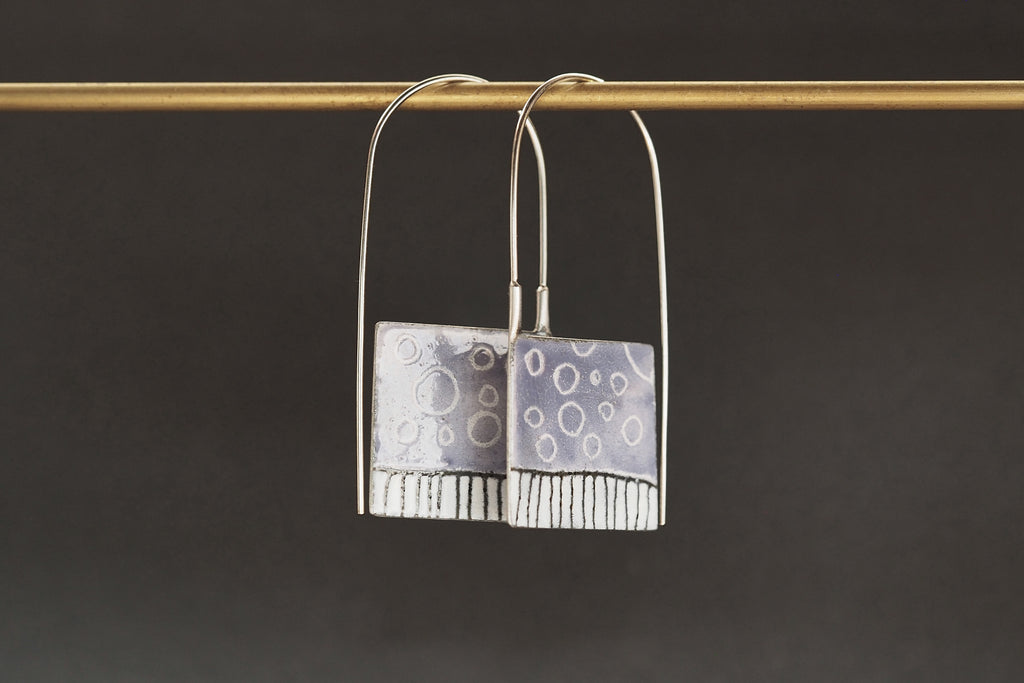 Enamel Padlock Earrings