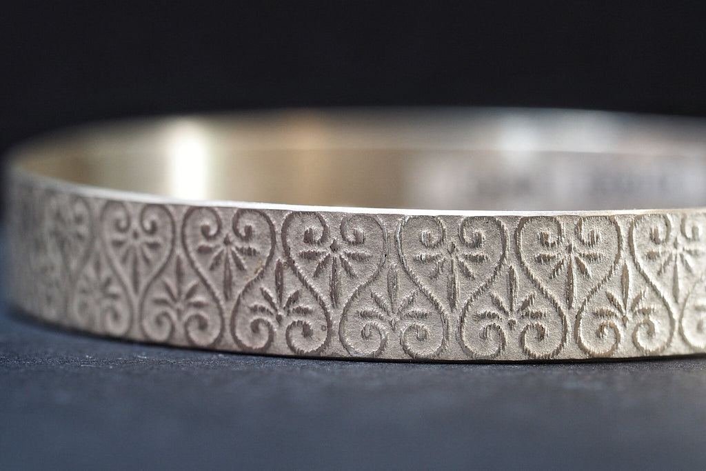Sterling Silver Pattern Bangle