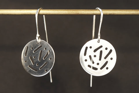 Small 'Dot Dash' Earrings
